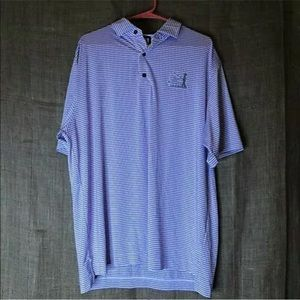 Foot Joy Mens Polo Shirt XL Purple Stripe Collared